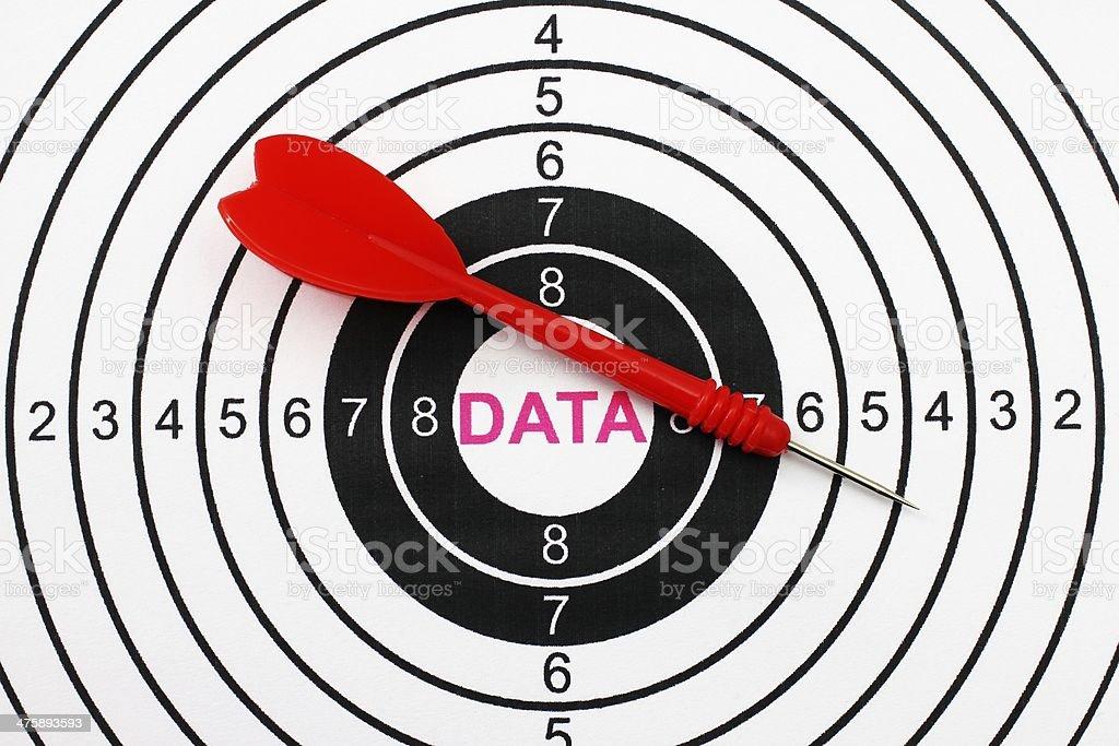 Data target stock photo