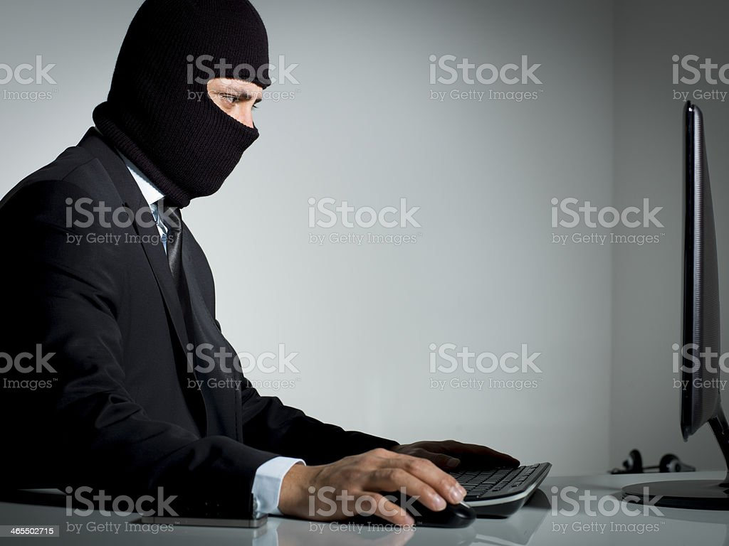 Data Thief stock photo