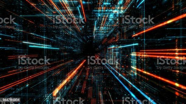 Data Transfer And Future Technology Cyber Security Concept Background Abstract Hi Speed Digital Internet — стоковые фотографии и другие картинки Абстрактный