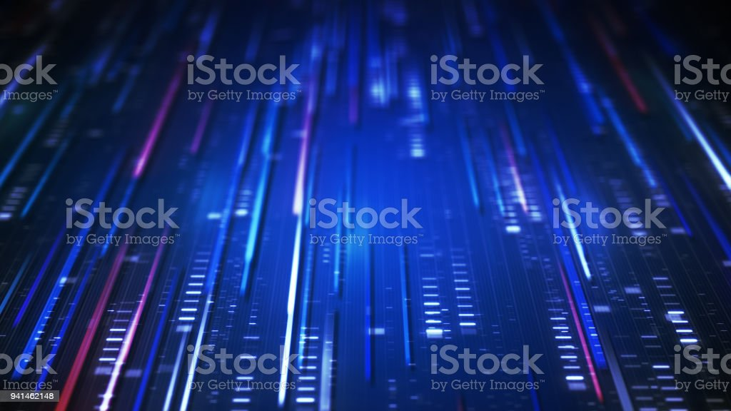 Data transfer blue technology loopable background 4k UHD (3840x2160) stock photo