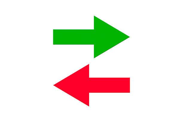 icono de transferencia de datos - arrows fotografías e imágenes de stock