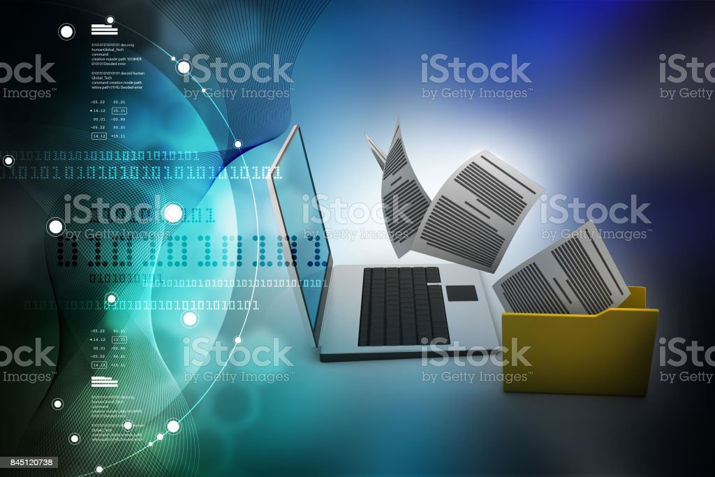 Data transferring stock photo