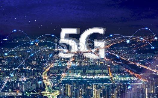 1155541483istockphoto 5G data transmission / network 1162183210