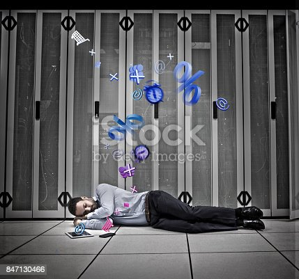 istock Data worker dreaming of applications 847130466