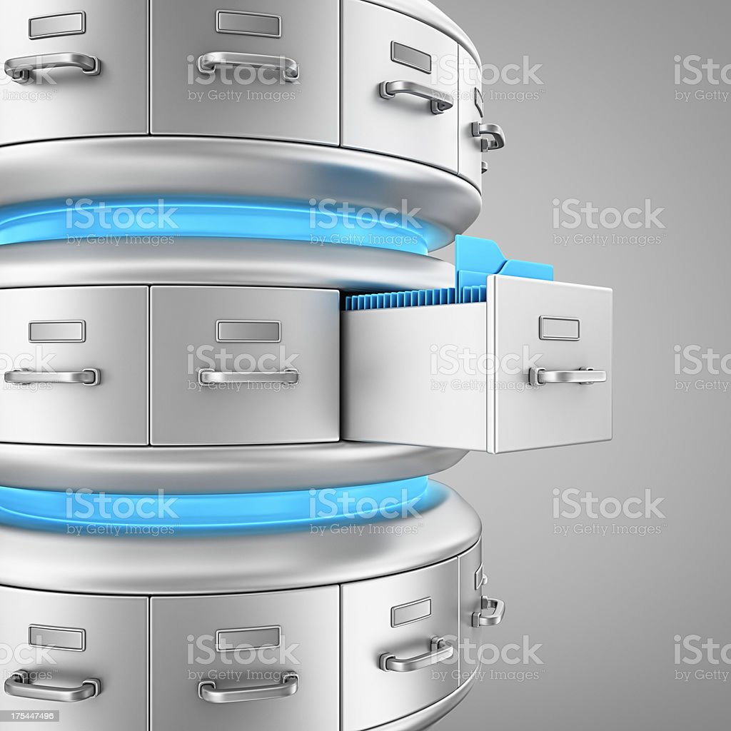 database archive stock photo