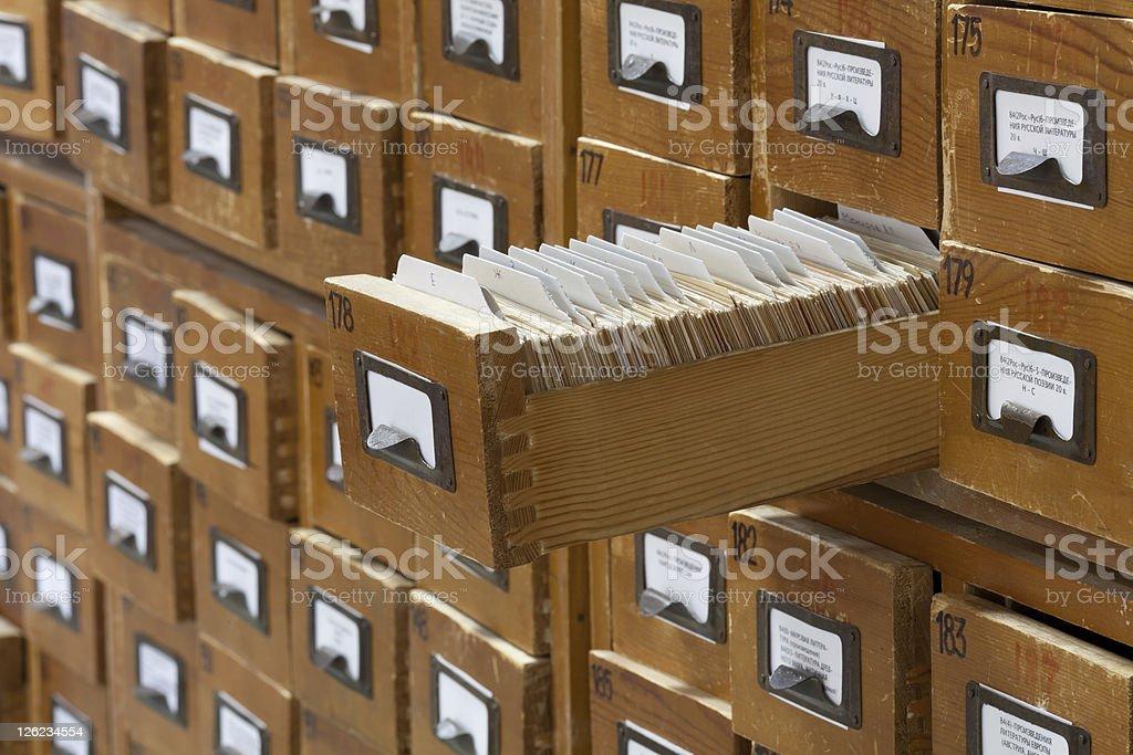 Schedario Ufficio Vintage : Database concept vintage ufficio tessera della biblioteca o file