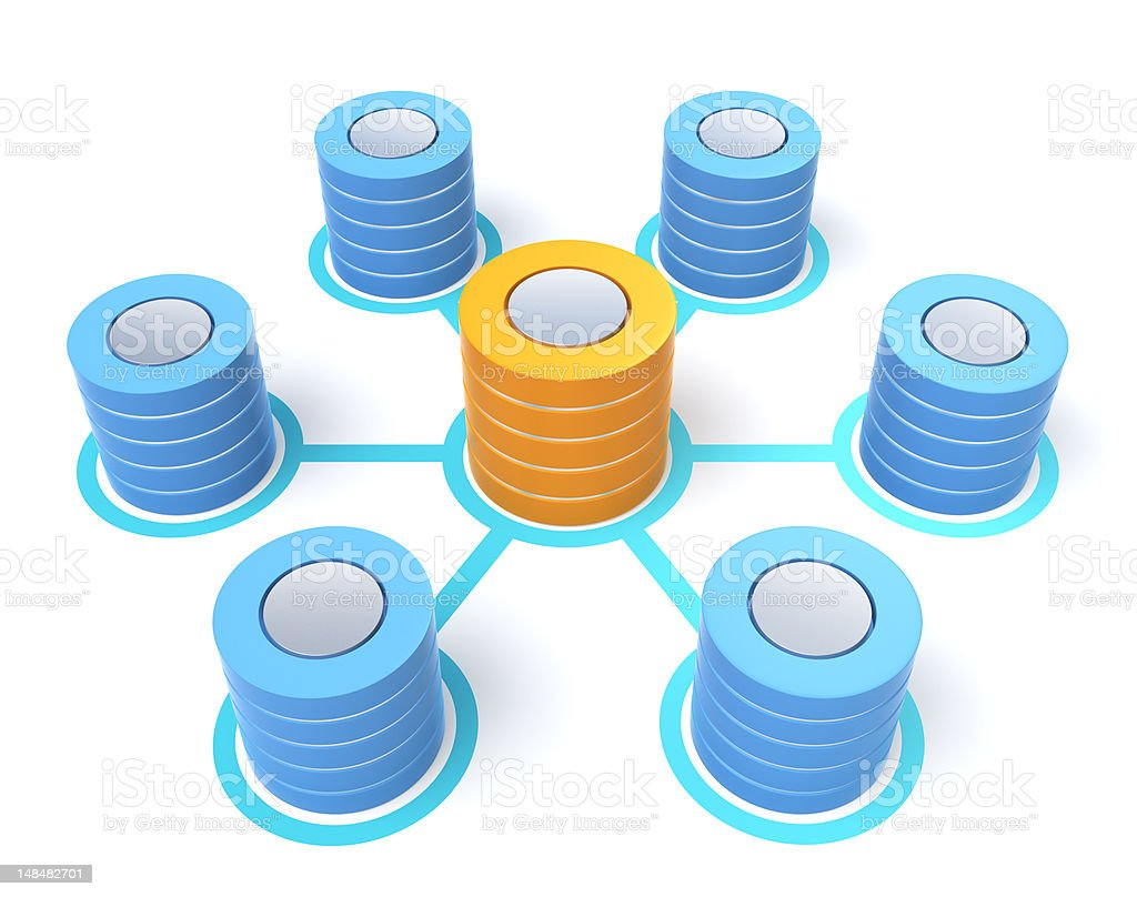 database connection(simple) royalty-free stock photo