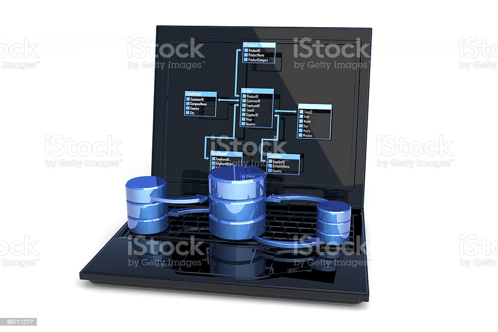 Database design royalty-free stock photo