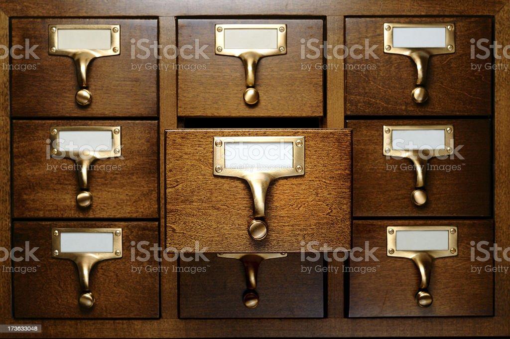 Database drawers royalty-free stock photo