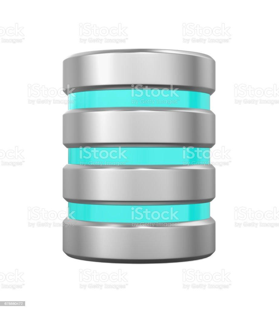 İzole veritabanı simgesi royalty-free stock photo