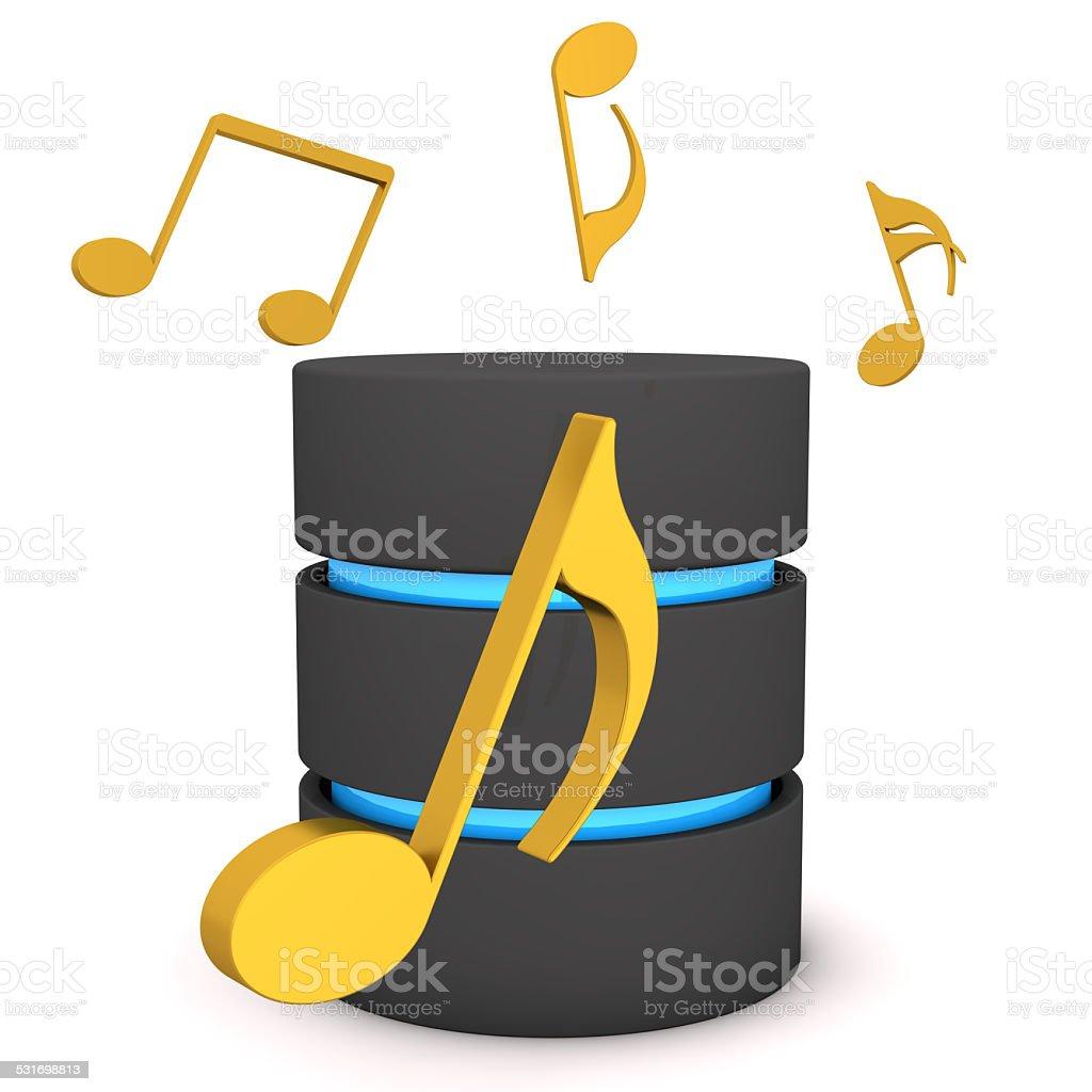Database Music Notes stock photo