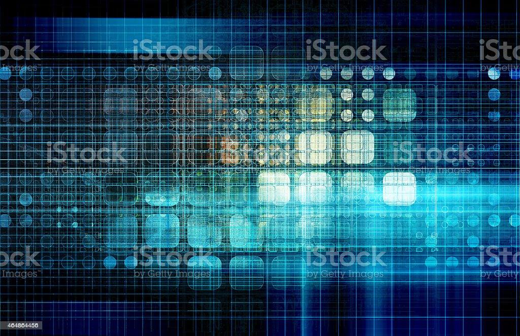 Database Network royalty-free stock photo