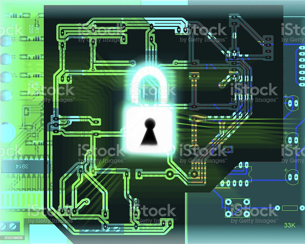 Database security concept stock photo