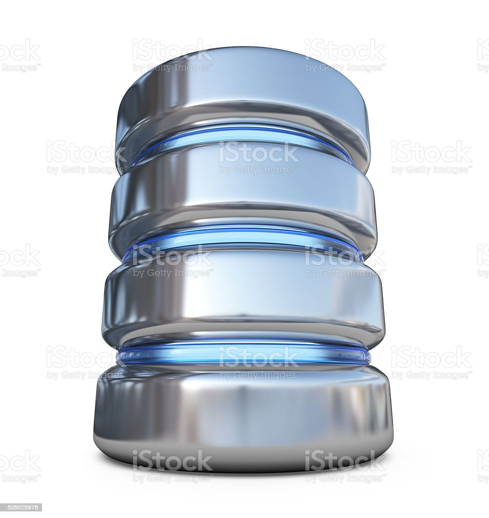 Database. Storage concept. 3D icon isolated stock photo