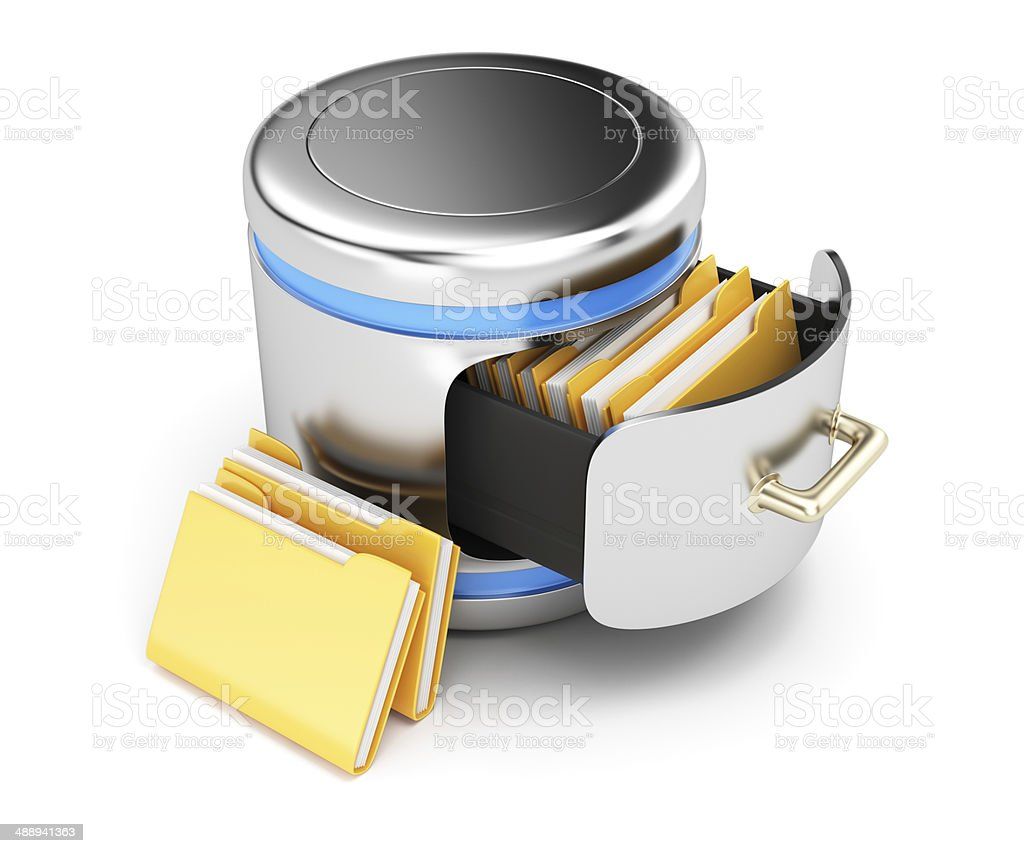 Database storage concept royalty-free stock photo