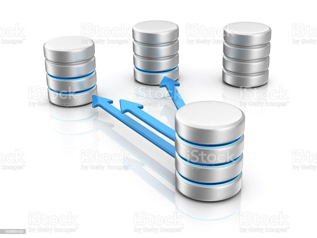 Database Transfer royalty-free stock photo