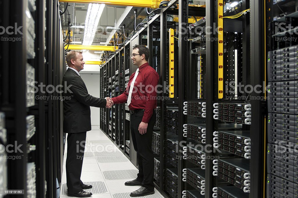 Datacenter deal royalty-free stock photo