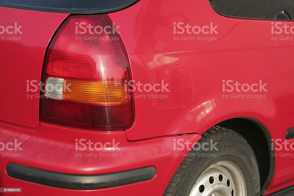 datail from the rear side of a car stock photo