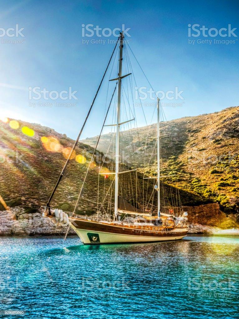 Datca coast in Turkey stock photo