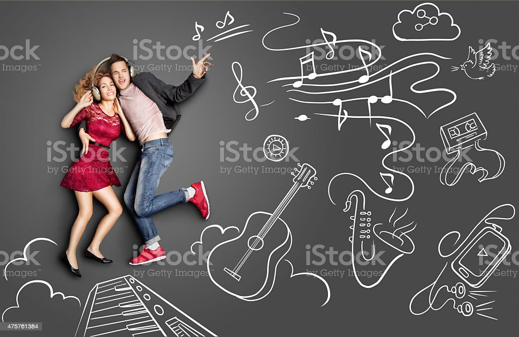 Date and music. stock photo