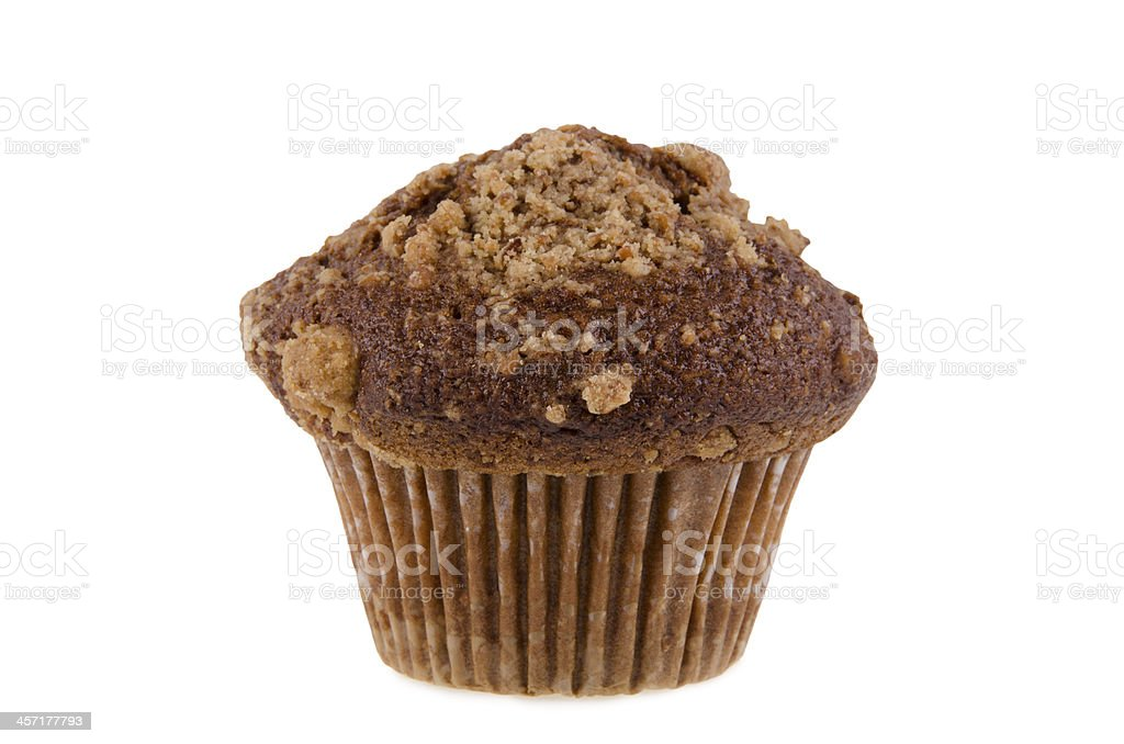 Date and nuts muffin stock photo