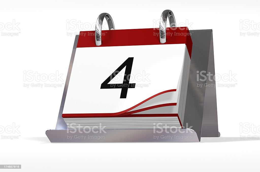 Date Block 04 royalty-free stock photo