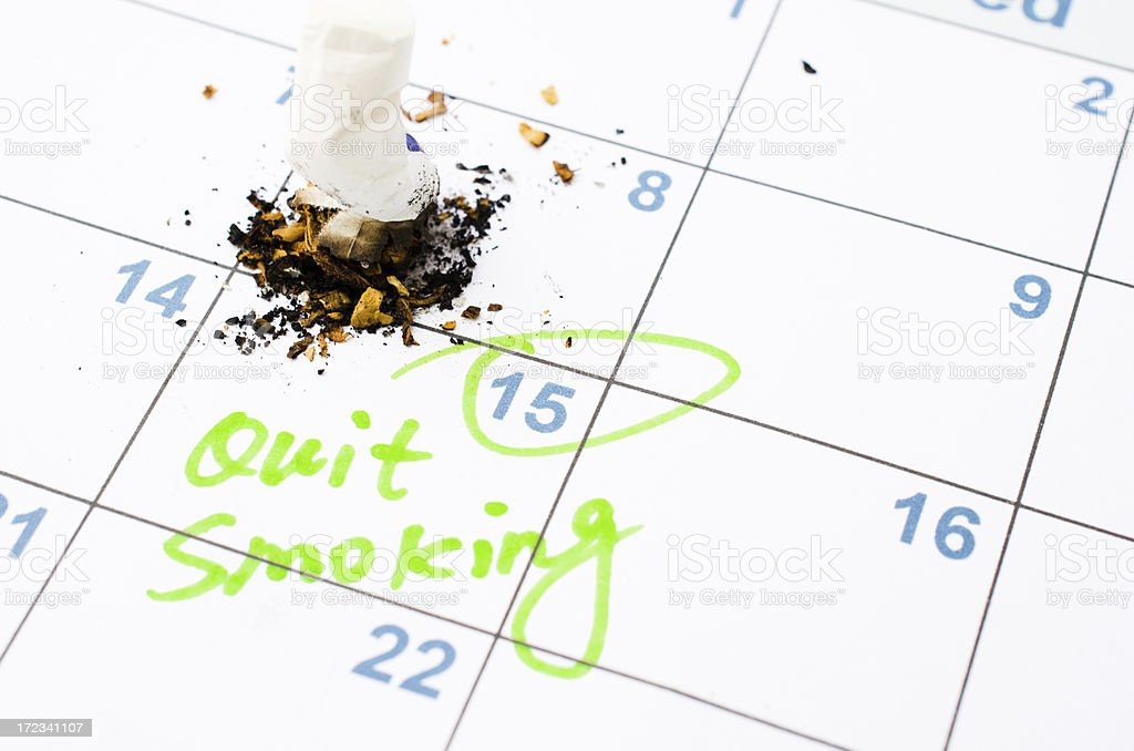 date for quiting smoking royalty-free stock photo