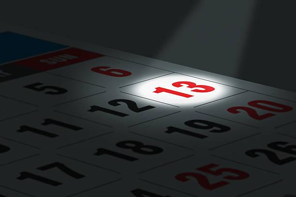 datum im fokus - number 13 stock-fotos und bilder