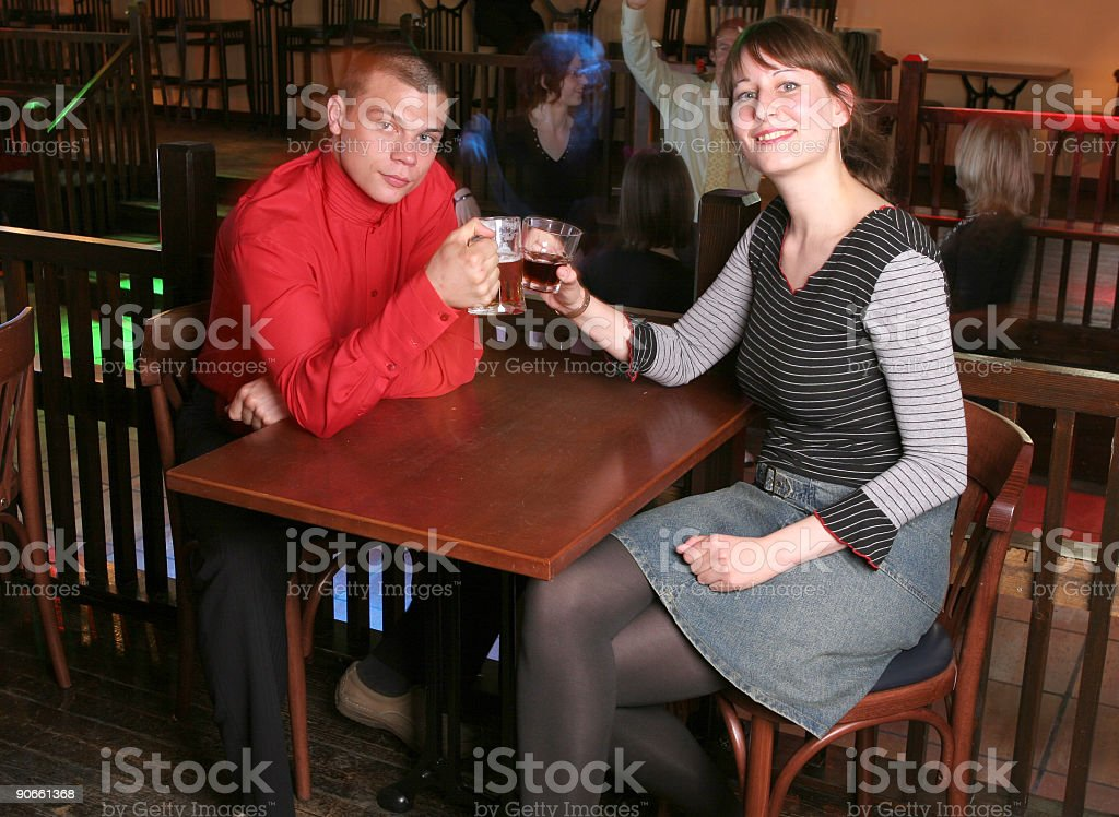 Date in night club royalty-free stock photo