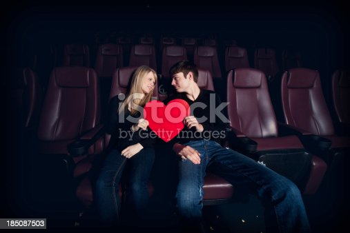 505067918 istock photo Date Night at the Movies - Teenagers in Love 185087503