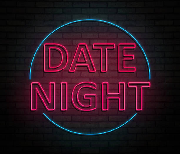 concepto de la noche de fecha. - date night fotografías e imágenes de stock