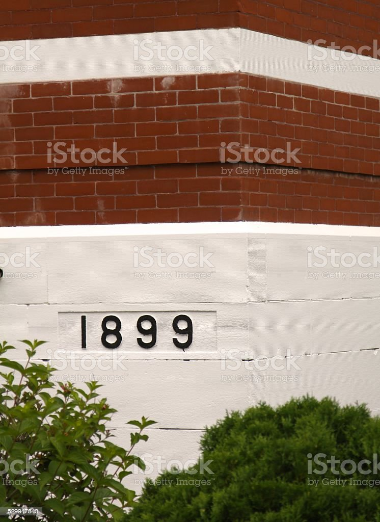 Date On A Building stock photo