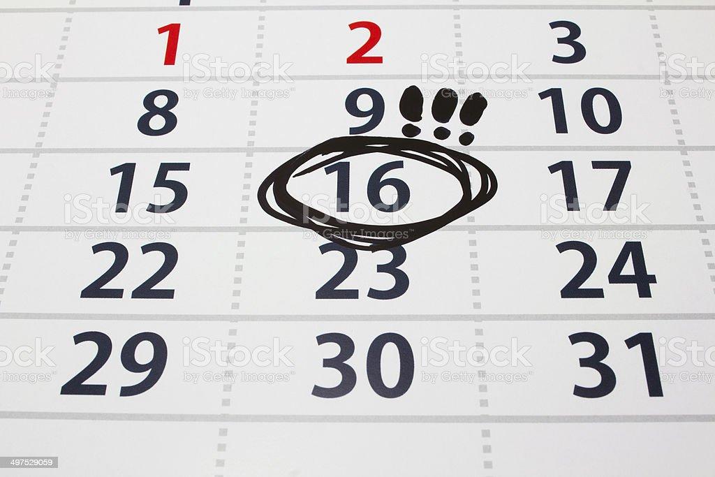 Fecha en el calendario 2 - Foto de stock de Actividad libre de derechos