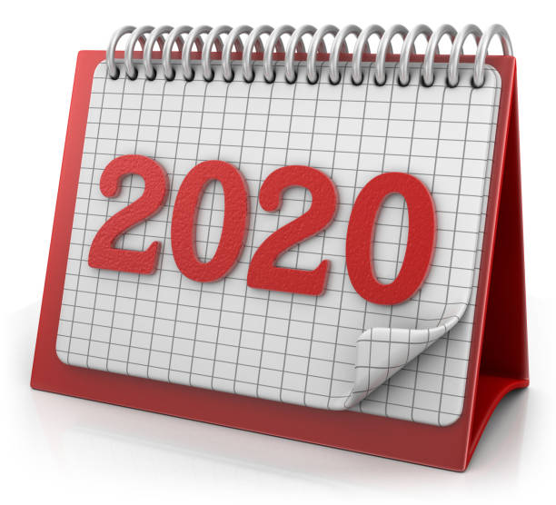 Date on the Calendar 2020 stock photo