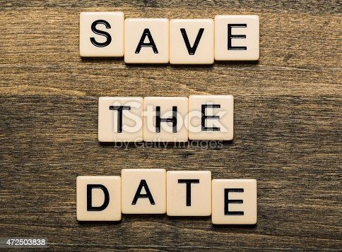istock Date. Save The Date card isolated on white background 472503838