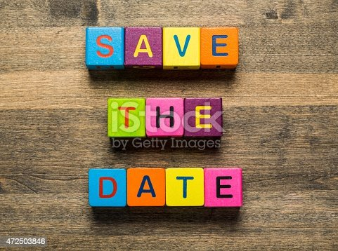 istock Date. Save The Date card isolated on white background 472503846