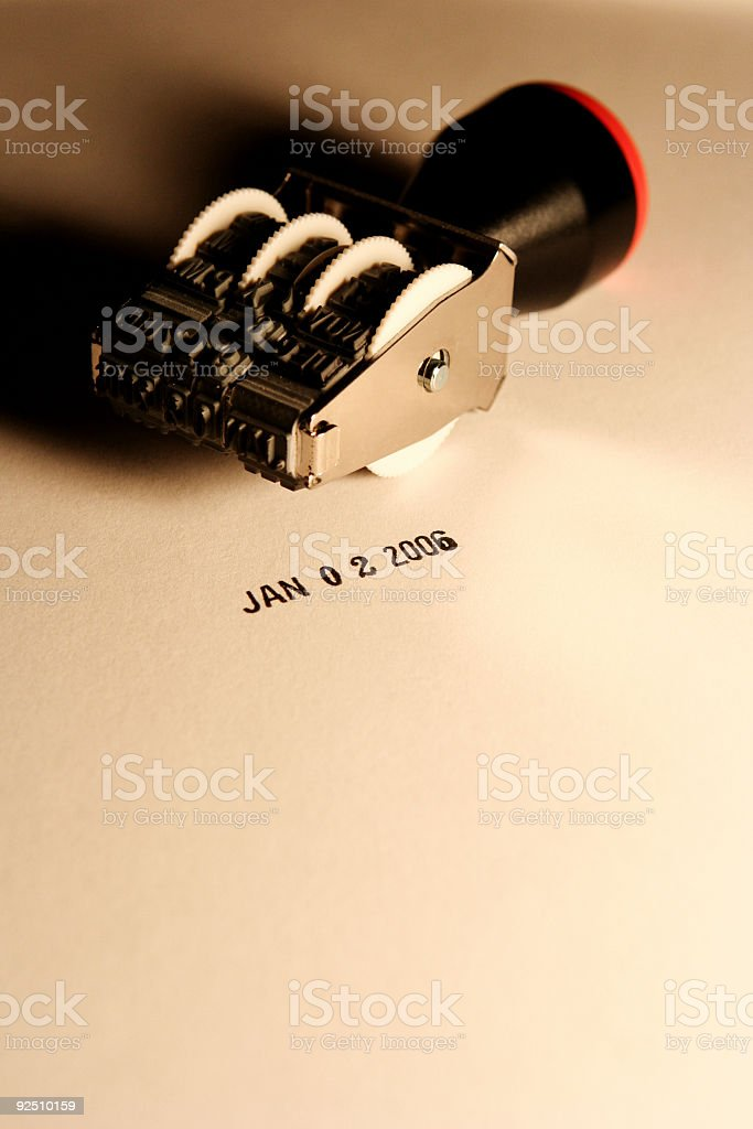 Date Stamp - New Year's Day (US Bank Holiday) 2006 stock photo