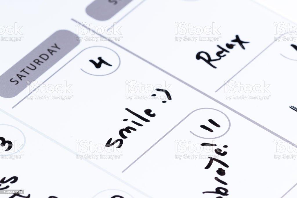dates on a calendar stock photo