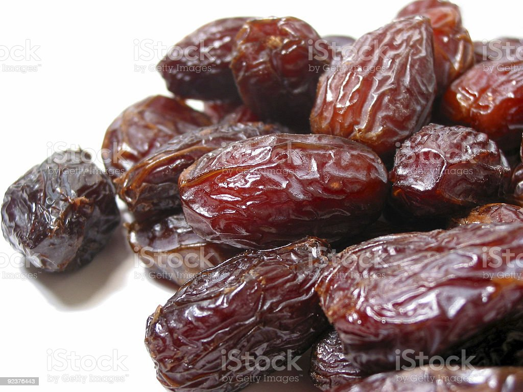 Dates on white stock photo