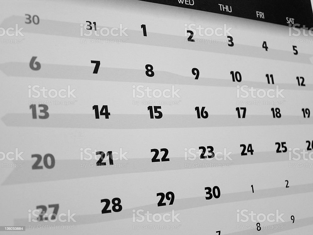 dates (B&W) royalty-free stock photo