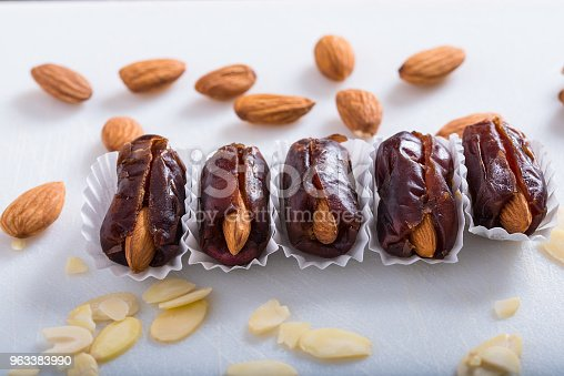 963384046 istock photo Dates stuffed with almonds 963383990