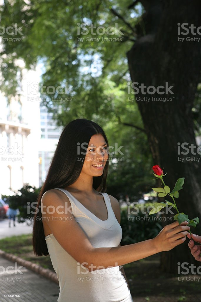 dating in the park royalty-free stock photo