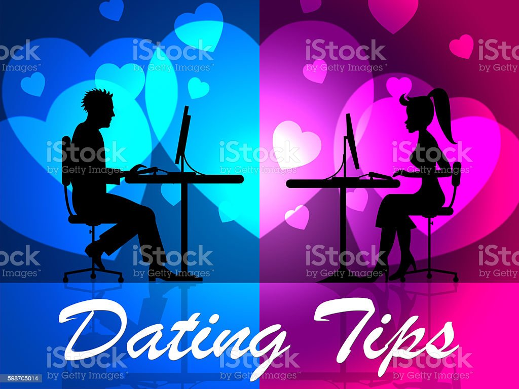 Dating Tips Indicates Love Network And Hints stock photo