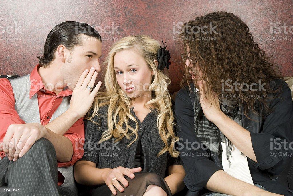데이트 낚시터입니다 - 로열티 프리 3 명 스톡 사진