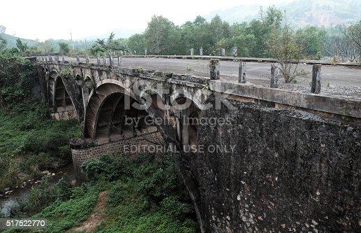 istock Dau Mau bridge, Ho Chi Minh trail, Vietnam 517522770