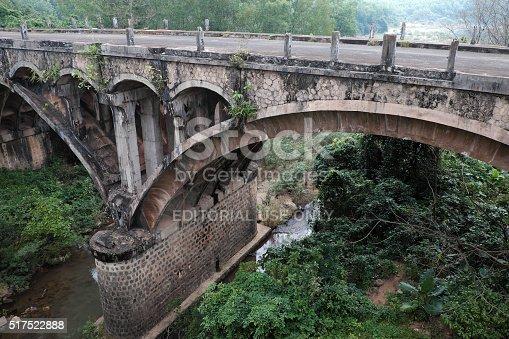 istock Dau Mau bridge, Ho Chi Minh trail, Vietnam 517522888