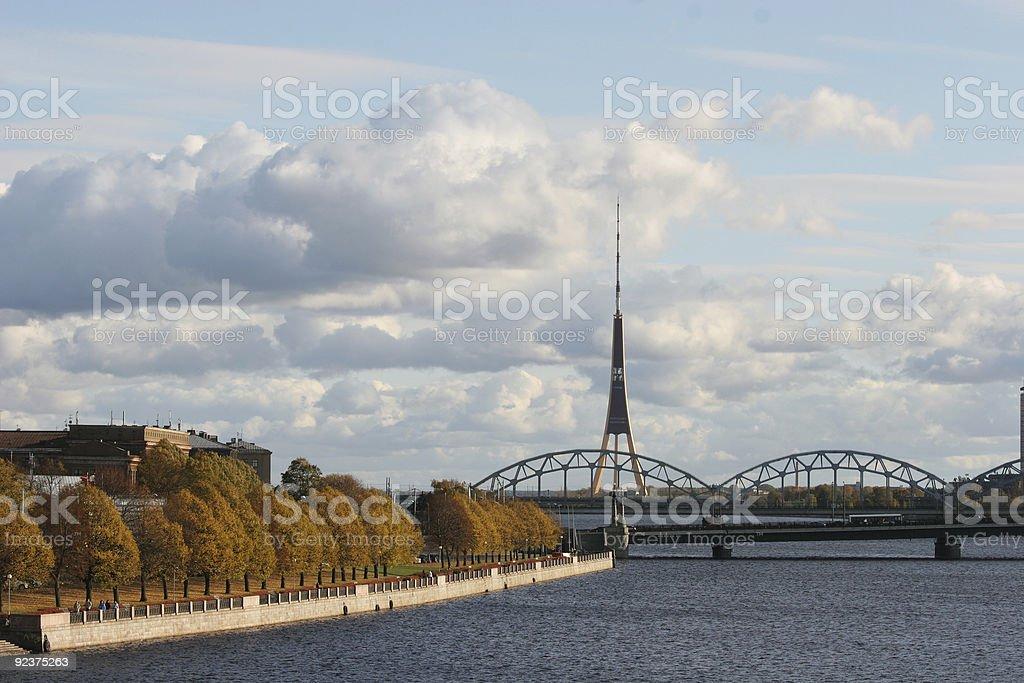 Daugava riverbank royalty-free stock photo