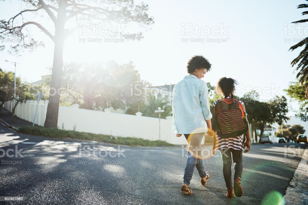 Daughter and mother bonding time stock photo