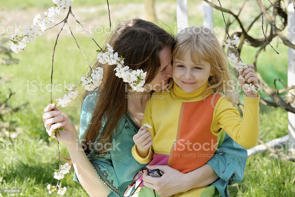 Daughter and mother royalty-free stock photo