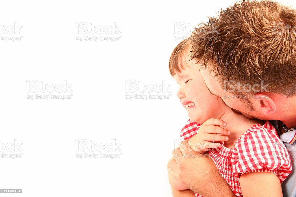 daughter crying stock photo